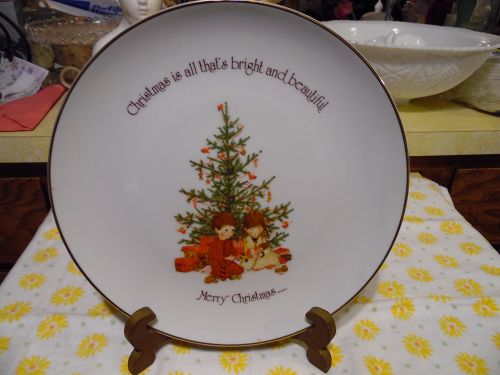Holly Hobbie plate Christmas is all that's bright and beautiful