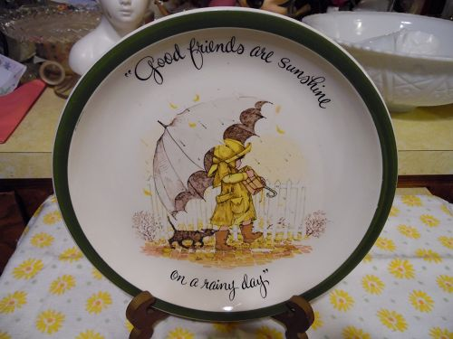 Holly Hobbie plate Good Friends are like Sunshine on a rainy day