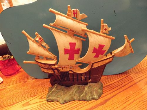 Vintage cast iron galleon ship doorstop