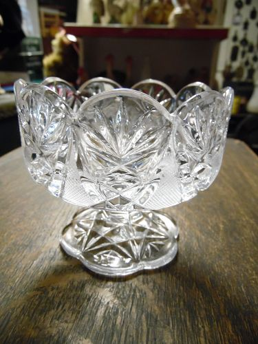 Imperlux Crystal Germany sherbert candy dish pattern IPX5