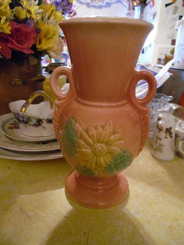 "Hull USA  8-94 Sunglow vase 8.5"""