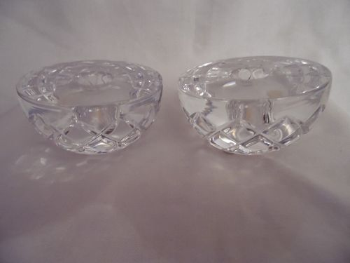 Pair of Orrefors crystal candlestick holders