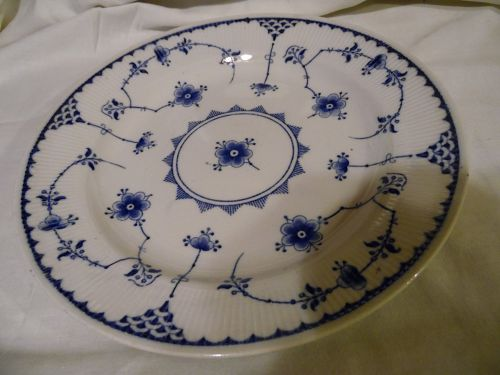 "Furnivals Denmark Blue  10 1/8"" dinner plate Made in England"