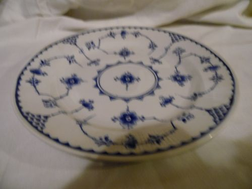 Furnivals Denmark Blue 9 1/4  luncheon plate plate Made in England