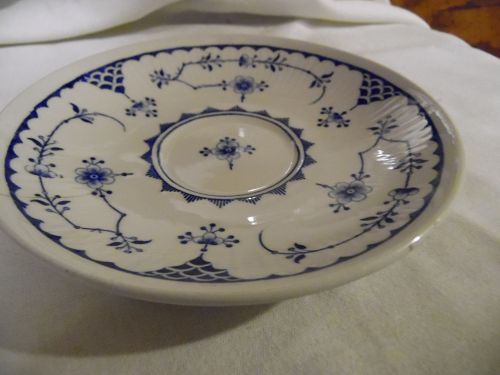 Furnivals Denmark Blue  single saucer Made in England