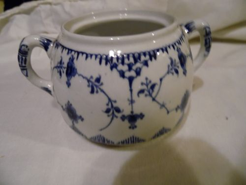 "Furnivals Denmark Blue  3 1/2"" sugar bowl no lid Made in England"