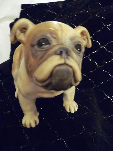 "Old English or french Bulldog  Boxer figurine lifelike 6.5"" tall"