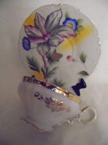 Occupied Japan Lavish decoration teacup and saucer Princess China