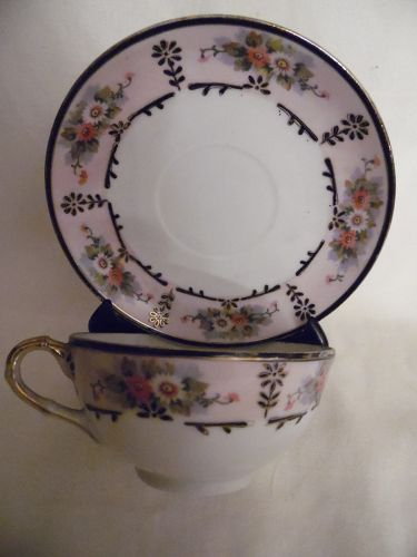 Antique Nippon Nagoya Shofu hand painted cup and saucer