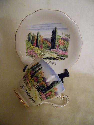 Royal Standard The Butchart Gardens #1572 Cup & Saucer Fine Bone China