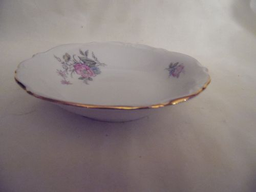 Bavaria West Germany fine china sauce bowl floral with gold trim 5.25