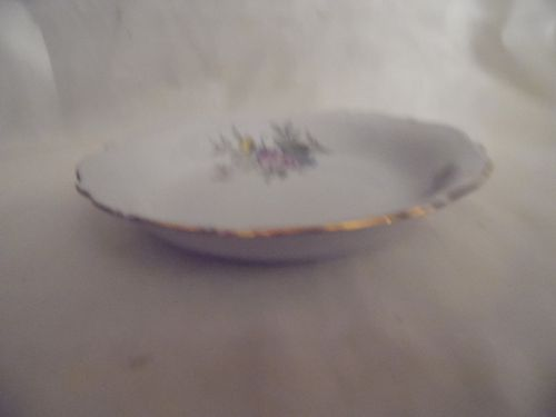 Bavaria West Germany fine china soup bowl floral with gold trim 7 3/8""