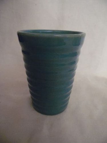 Vintage Bauer  rings 12 ounce  green tumbler 4.5""