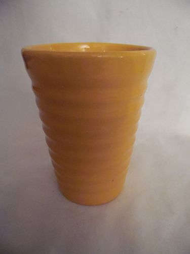 """Vintage Bauer rings 12 ounce  yellow tumbler 4.5"""""""