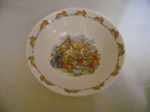 Royal Doulton Bunnykins  Golden Jubilee Celebration cereal bowl 1984