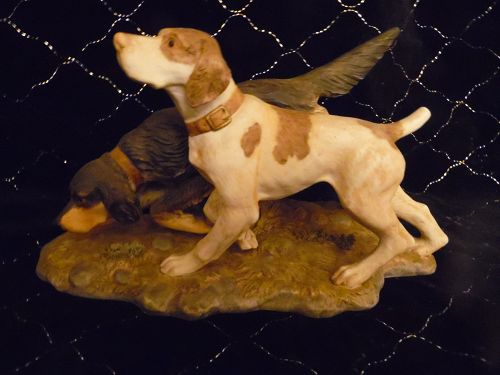 The Hunters hunting dogs figurine by Homco 1990