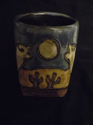 Mara Mexico Howling Coyotes mug square bottom.