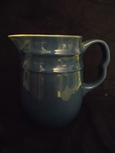 Mid-century Oxford stoneware cobalt blue pitcher