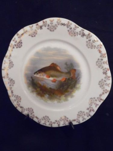 Antique fish decorative plate Limoges? Austria?