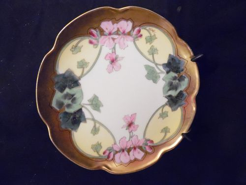 Haviland Limoges Stouffer Studios cabinet plate artist Harry E.Michel