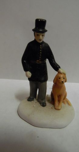 Dept 56 Dickens Village accessory Constable with dog