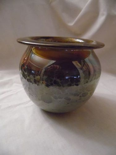 Donald Carlson signed art glass vase, Signed and dated '72