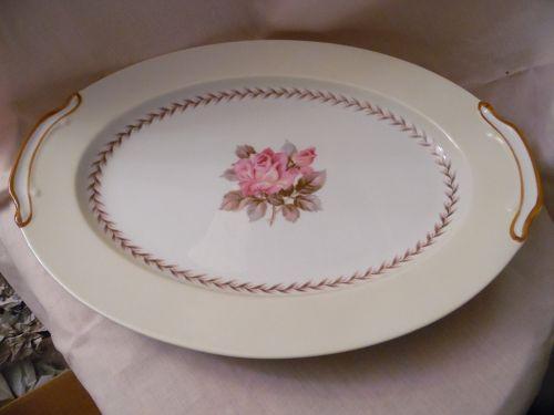 Noritake Nippon Toki Kaisha 16 1/4 oval platter pink rose pattern N212