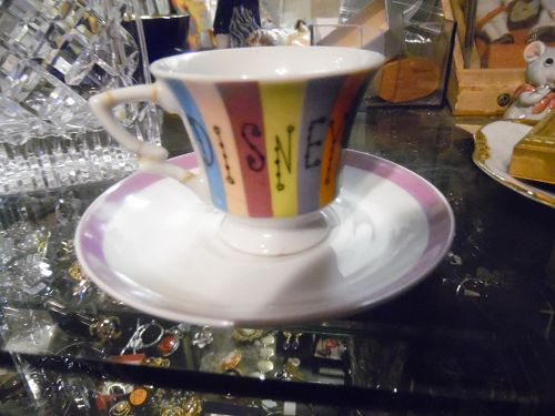RARE 1950'-60's demitasse souvenir DISNEYLAND cup and saucer