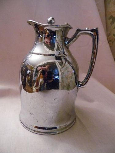 Vintage Stanley Landers Frary &Clark insulated chrome Deco pitcher