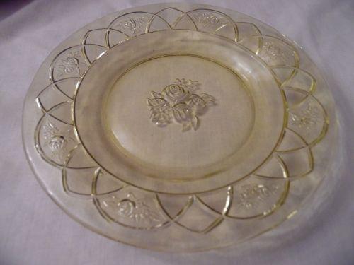 Federal Glass Rosemary, aka Dutch rose amber-yellow 6.5 salad plate