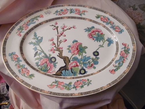 Maddock and Sons England Indian Tree 14.25 oval platter