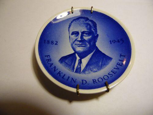 Royal Copenhagen Denmark President Franklin D. Roosevelt Mini Plate