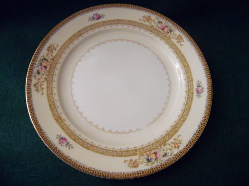 Meito china 6.5 hand painted bead butter plate Camden pattern Japan