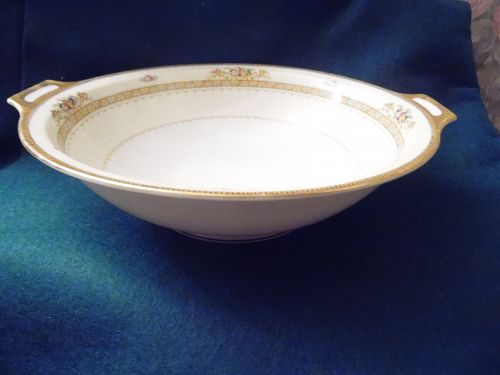 Meito china10 inch hand painted vegetable bowl Camden pattern Japan