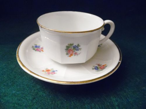 Union Czechoslovakia demitasse  teacup and saucer tiny flowers