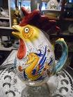 Majolica Deruta Rooster pitcher made in Italy