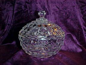 Fostoria american covered candy dish