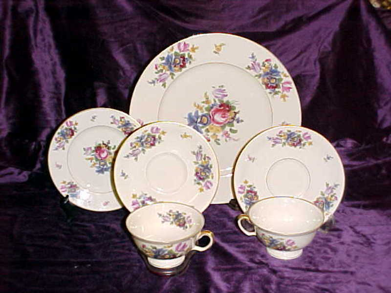 Meissen Black Knight Bavarian dinnerware pieces