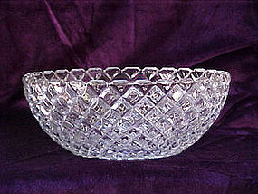 Hocking glass waterford/ waffle salad bowl