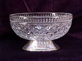 waterford pattern teleflora bowl on silver foot