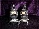 Pot belly stoves salt & pepper shakers