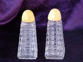 yellow top quilted shakers