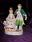 Double colonial couple figurine