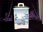 Delft blue coffee cannister, or Sugar cannister CZech