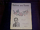 sheet music, Robins & Roses