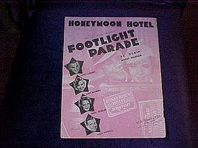 Sheet music, Honeymoon Hotel