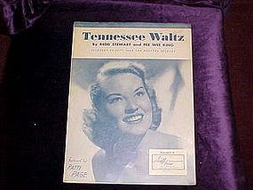 sheet music, Tennessee Waltz