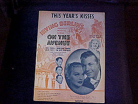 Sheet music, This Years kisses