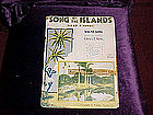 sheet music, Song of the islands