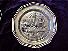 Boston tea party, Pewter collector plate